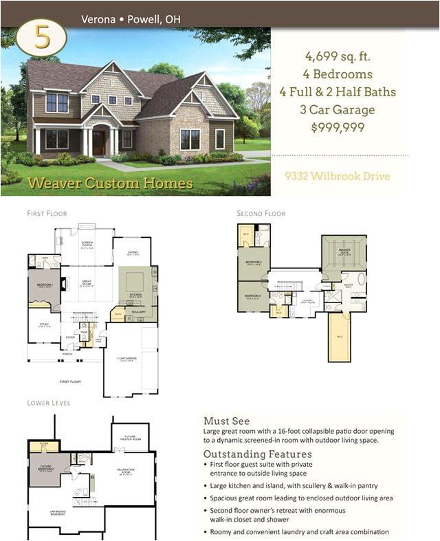 weaver custom homes floor plans best of floorplans weaver homes