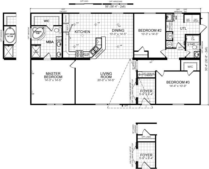 double wide open floor plans