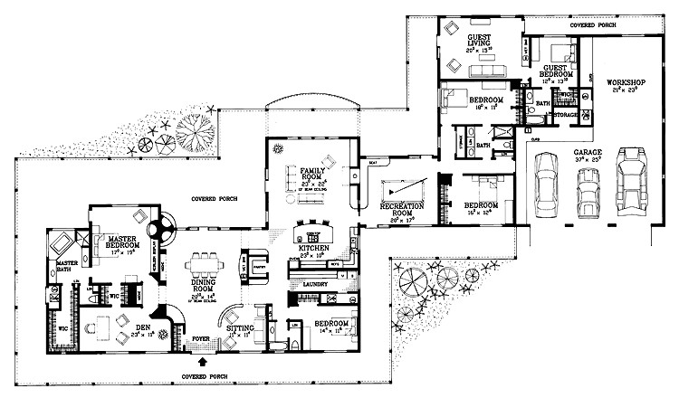 exceptional wide house plans 12 5 bedroom ranch house open floor plans