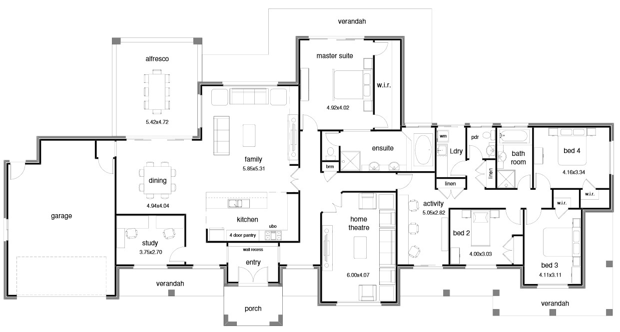 house plans for wide blocks