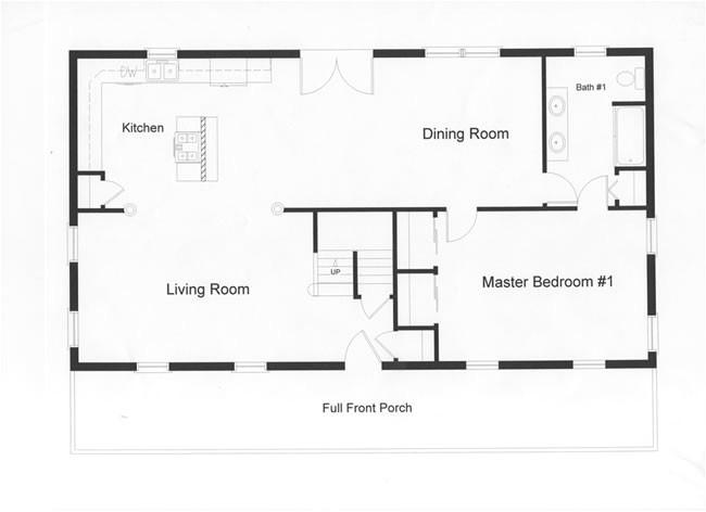 wide open floor plan provides excellent space entertaining