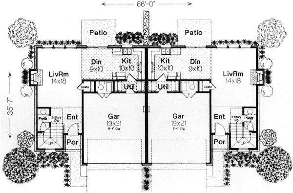 wide shallow lot home plans