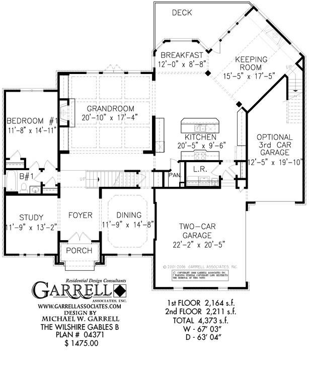 wilshire gables b house plan