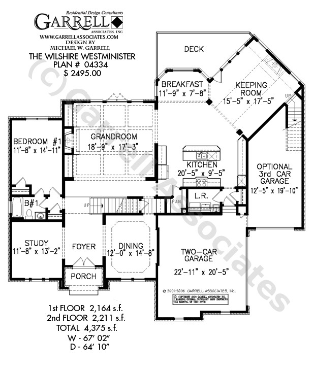 Wilshire Homes Floor Plans Wilshire Westminister House Plan House Plans by Garrell