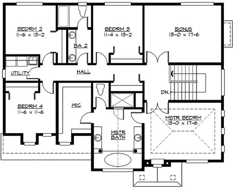 large family home floor plans