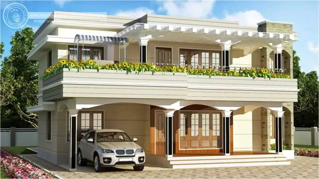 exterior design and 2 bedroom house plans indian style with two floor house plan