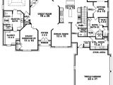 1 Level House Plans with 2 Master Suites 654269 4 Bedroom 3 5 Bath Traditional House Plan with