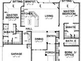 1 Level House Plans with 2 Master Suites Double Master Bedroom House Plan 3056d Architectural