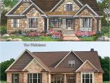 1 Story Brick House Plans the Whiteheart Plan 926 Rendering Vs Reality Www
