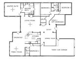 1 Story Home Floor Plan One Story Floor Plans One Story Open Floor House Plans