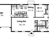 1 Story Home Floor Plan Simple One Story 1153g 1st Floor Master Suite Cad