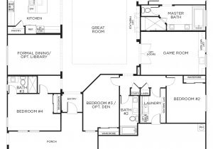 1 Story Home Plans Love This Layout with Extra Rooms Single Story Floor