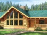 1 Story Log Home Plans Fall River Log Home Plan Mywoodhome Com