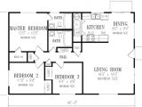 1040 Square Foot House Plans Ranch Style House Plan 3 Beds 2 Baths 1040 Sq Ft Plan 1 148