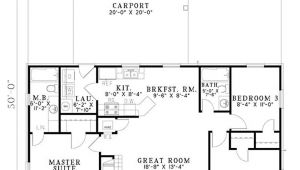 1100 Sq Ft Home Plans Ranch Style House Plan 3 Beds 2 Baths 1100 Sq Ft Plan