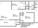 1100 Sq Ft Ranch House Plans 1100 Square Feet 2 Bedroom House Plans