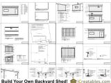 12×20 House Plans 12×20 Modern Studio Shed Plans End Door
