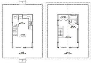 12×20 House Plans 12×20 Tiny House 12x20h1a 460 Sq Ft Excellent