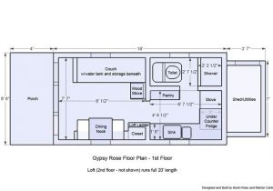 12×20 House Plans Micro House Floor Plans 12×20 Gypsy Rose Floor Plan