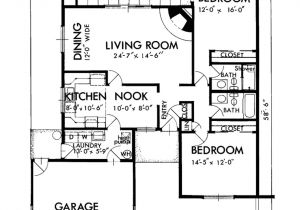 1300 Square Feet Home Plan Adobe southwestern Style House Plan 2 Beds 2 Baths