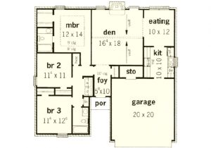 1350 Sq Ft House Plan Traditional Style House Plan 3 Beds 2 00 Baths 1350 Sq