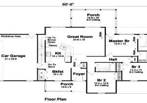 1400 Sq Ft House Plans with Basement 1400 Sq Ft southern Style House Plan 3 Beds 2 Baths 1400