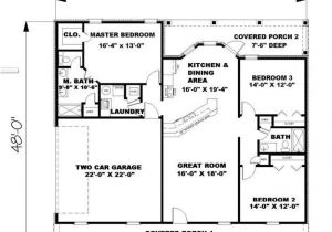 1500 Sq Ft Home Plans 1500 Sq Ft Ranch House Plans Lovely Ranch Plan 1 500