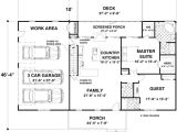 1500 Sq Ft House Plans with Garage House Plan 92395 at Familyhomeplans Com