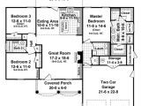 1500 Square Foot House Plans One Story House Plan 59099 at Familyhomeplans Com