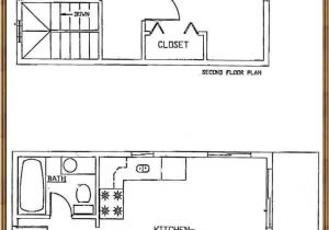 16×20 2 Story House Plans 2 Story Cabin Plans 16×24 16×24