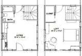 16×20 House Floor Plans 16×20 Tiny House 581 Sq Ft Pdf Floor Plan Dallas