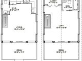 16×20 House Plans 16×20 House 16x20h1 620 Sq Ft Excellent Floor Plans
