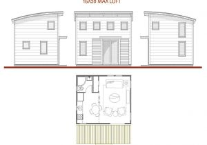16×20 House Plans with Loft 16 X 20 House Plans 16×20 Cabin Plan with Loft 16 X 16
