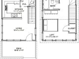 16×20 House Plans with Loft 16×20 House 16x20h3 569 Sq Ft Excellent Floor