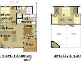 16×20 House Plans with Loft Small Cabin Floor Plans with Loft 2 Bedroom Cabin Floor