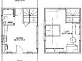 16×20 Tiny House Floor Plans 16×20 House 16x20h4a 574 Sq Ft Excellent Floor