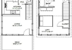 16×20 Tiny House Plans 16×20 House 16x20h3 569 Sq Ft Excellent Floor