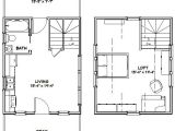 16×20 Tiny House Plans 16×20 House 16x20h4a 574 Sq Ft Excellent Floor