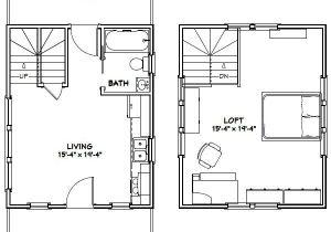 16×20 Tiny House Plans 16×20 Tiny House 16x20h4c 574 Sq Ft Excellent