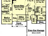 1700 Square Foot Home Plans Traditional Style House Plan 3 Beds 2 00 Baths 1700 Sq