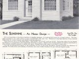 1940s Home Plans Sweet 1940 Aladdin Sunshine Pre Wwii Ultra Minimal