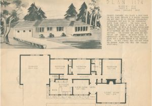 1950s Home Floor Plans 1950 Home Building Plan Service Ranch Style Homes Of the