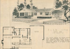 1950s Home Floor Plans Ranch House Floor Plans 1950