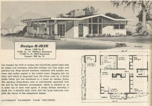 1950s Home Floor Plans Vintage House Plans 163