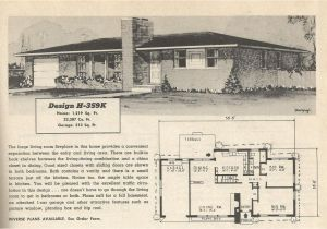 1950s Home Floor Plans Vintage House Plans 359