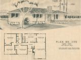 1950s Home Plans 1950 Modern Ranch Style House Plan Mid Century Home