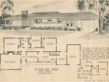 1950s Home Plans Mid Century Ranch Style Rambler Home Building Plan Service