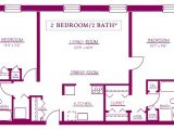 2 Bedroom and 2 Bathroom House Plans Residential Apartments Moravian Hall Square Moravian