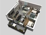 2 Bedroom Floor Plans Home 50 3d Floor Plans Lay Out Designs for 2 Bedroom House or