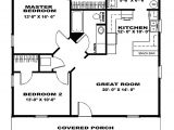 2 Bedroom Home Floor Plans Two Bedroom House Plans Two Bedroom Cottage Floor